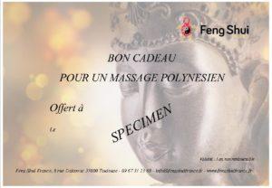 Bon cadeau pour massage Toulouse