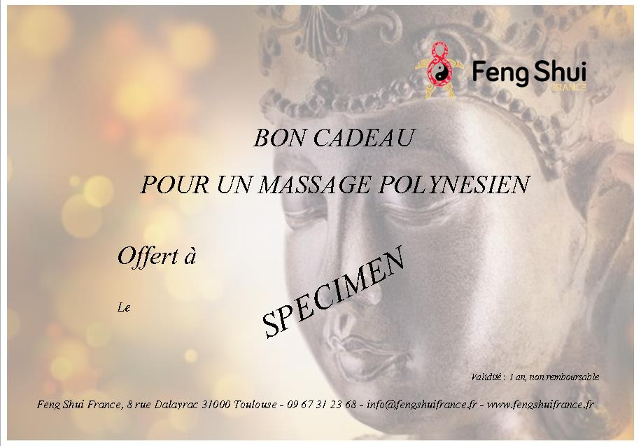 bon cadeau massage toulouse chez feng shui france. Black Bedroom Furniture Sets. Home Design Ideas